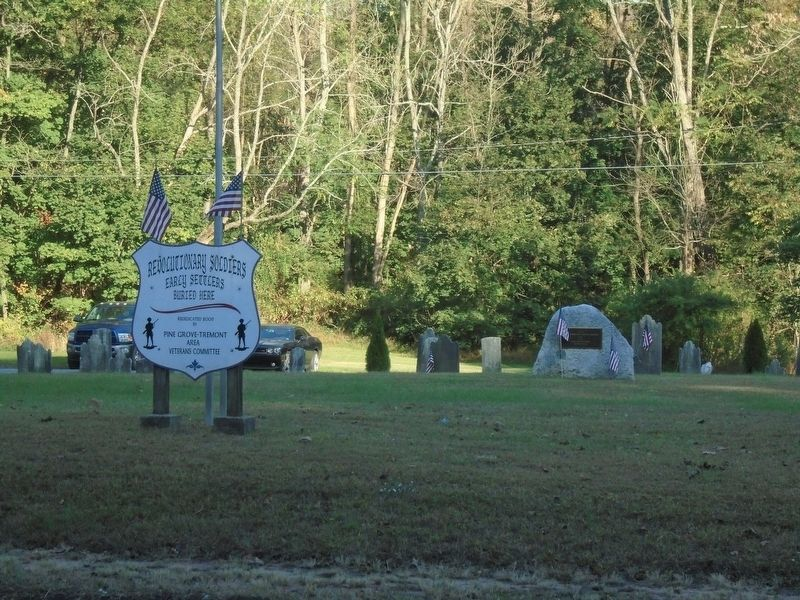 Site of the 1st Reformed-Lutheran Church Marker in Gunkels Cemetery image. Click for full size.