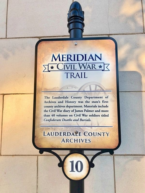 Lauderdale County Archives Marker image. Click for full size.