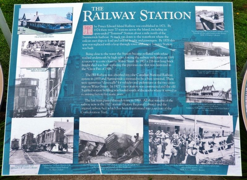 The Railway Station Marker image. Click for full size.