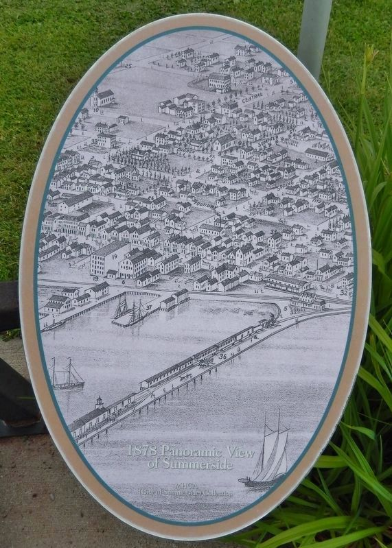 Right panel detail: 1878 Panoramic View of Summerside image. Click for full size.