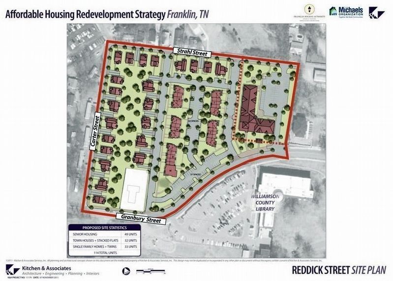 The Reddick Street development as planned image. Click for full size.