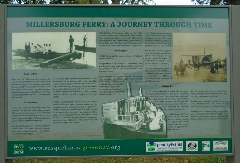 Millersburg Ferry: A Journey Through Time Marker image. Click for full size.