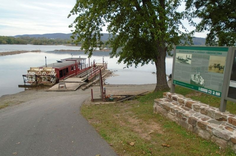 Millersburg Ferry and Marker image. Click for full size.