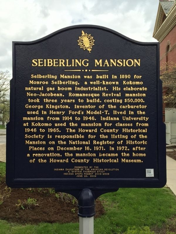 Seiberling Mansion Marker image. Click for full size.