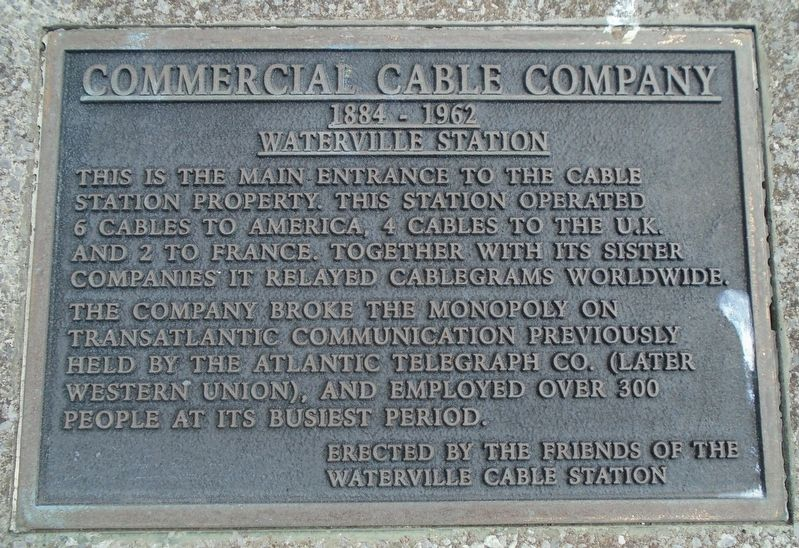 Commercial Cable Company Marker image. Click for full size.