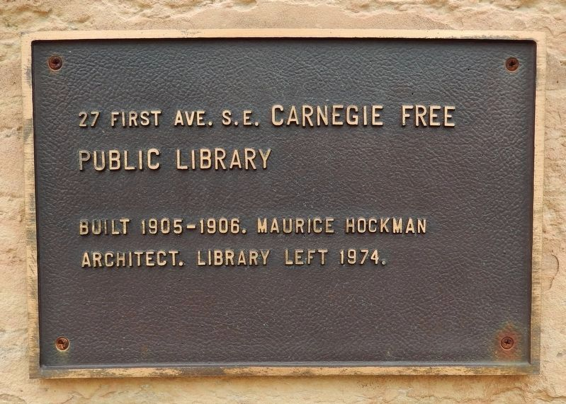 Carnegie Free Public Library Marker image. Click for full size.