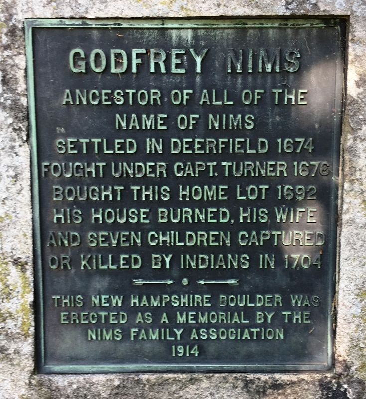 Godfrey Nims Marker image. Click for full size.