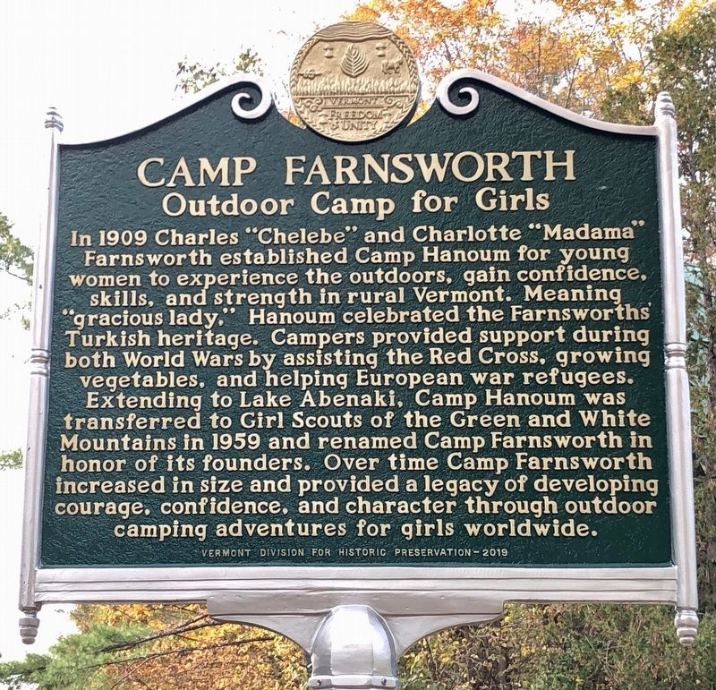 Camp Farnsworth Marker image. Click for full size.