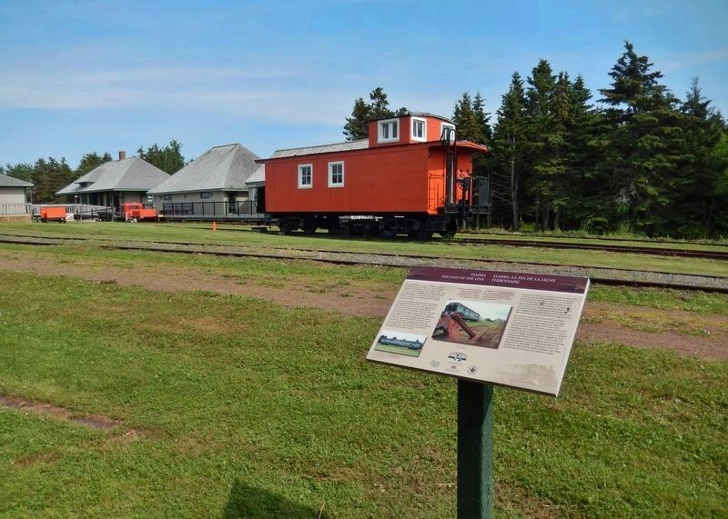Elmira Marker • <i>wide view<br>(Elmira Railway Museum in left background)</i> image. Click for full size.