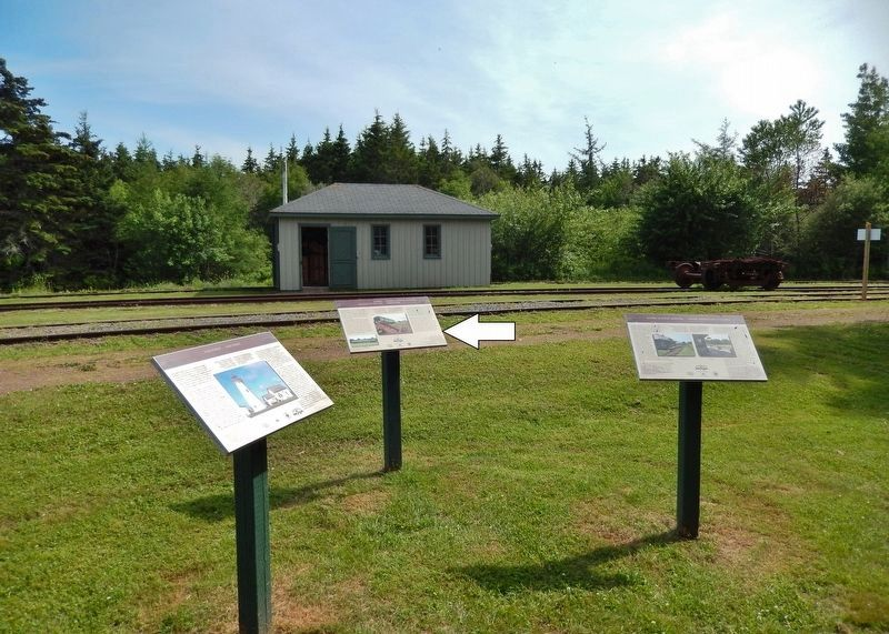 Elmira Marker • <i>wide view looking south<br>(Confederation Trail in background)</i> image. Click for full size.