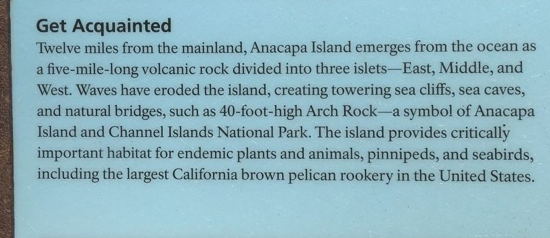Anacapa Island Marker image, Touch for more information
