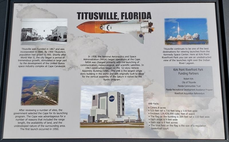 Titusville Florida Marker image. Click for full size.