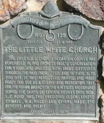 The Little White Church Marker image. Click for full size.