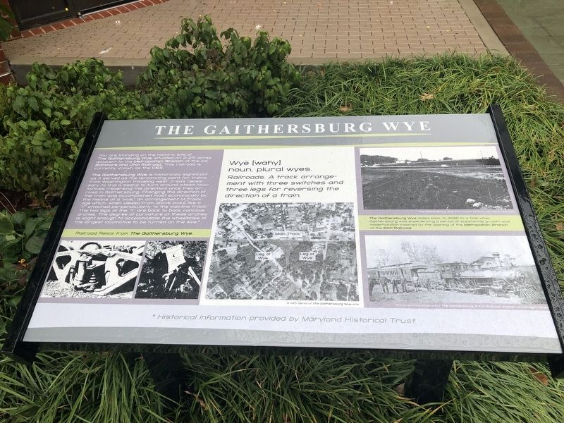 The Gaithersburg Wye Marker image. Click for full size.