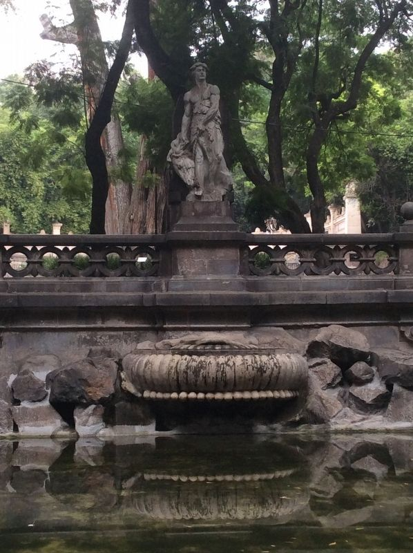 "The statue of ""Temperance"" at the fountain image. Click for full size."