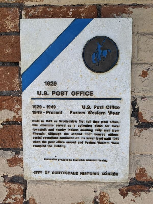 1929 - U.S. Post Office Marker image. Click for full size.