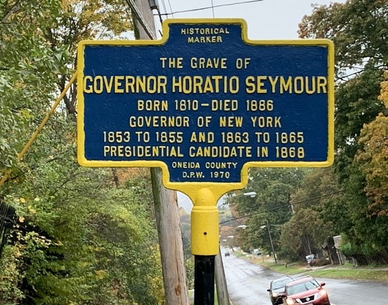 Governor Horatio Seymour Marker image. Click for full size.