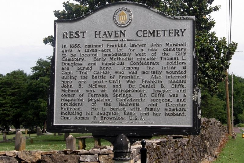 Rest Haven Cemetery Marker image. Click for full size.