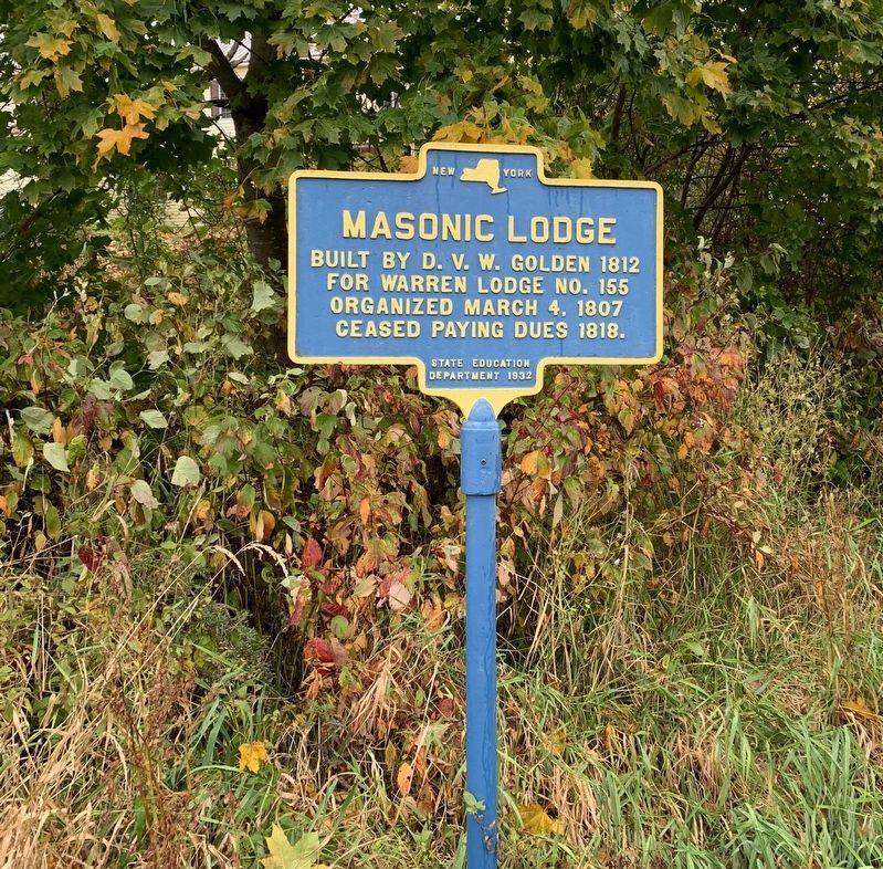 Masonic Lodge Marker image. Click for full size.