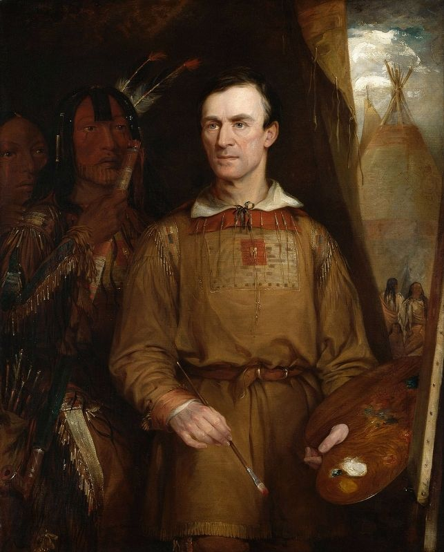 George Catlin by William Fisk. image. Click for full size.