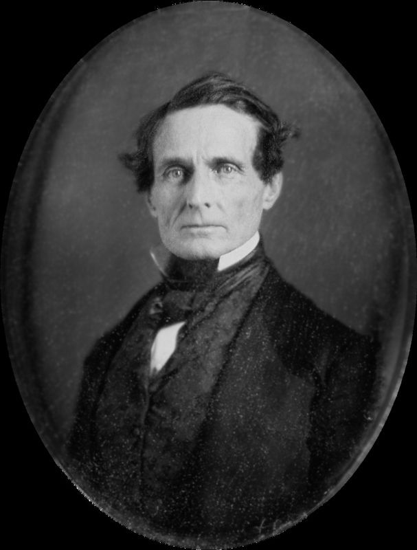 Jefferson Finis Davis (June 3, 1808 – December 6, 1889) image. Click for full size.