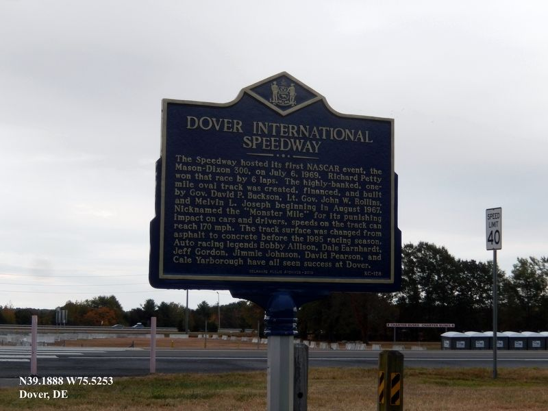 Dover International Speedway Marker image. Click for full size.