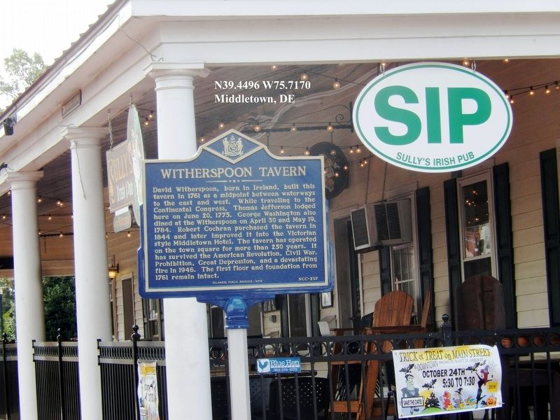 Witherspoon Tavern Marker image. Click for full size.