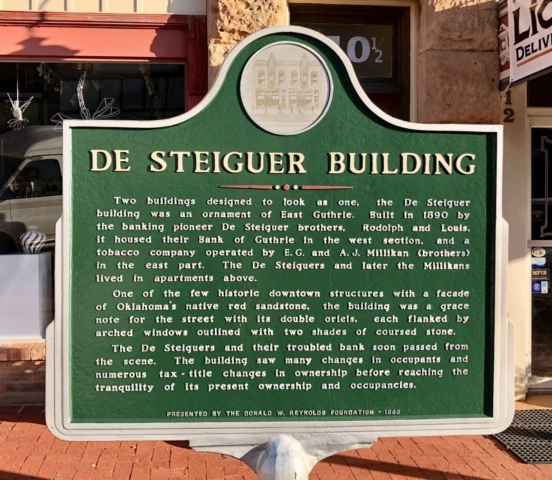 De Steiguer Building Marker image. Click for full size.