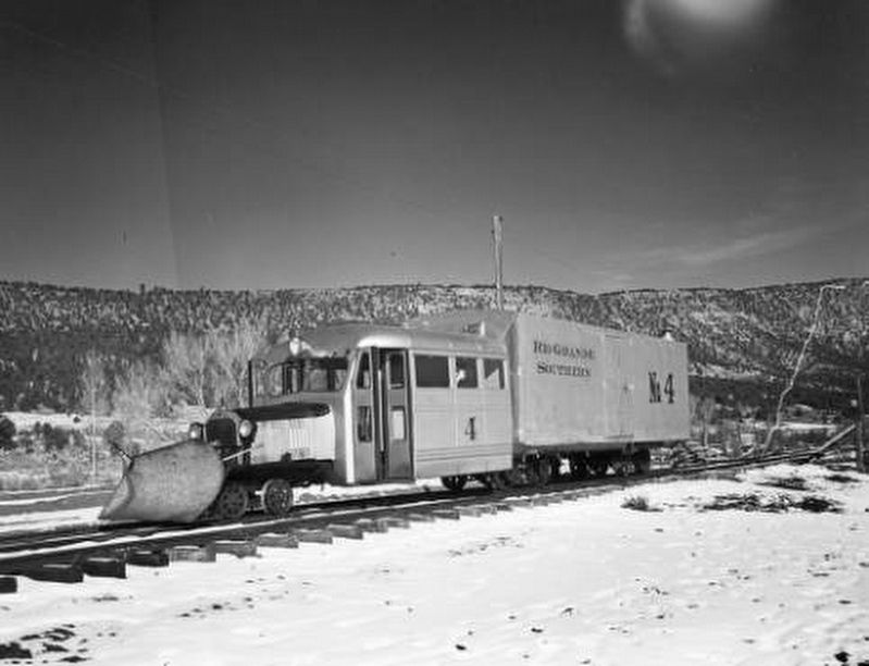 <i>Rio Grande Southern Railroad (RGS) Goose 4 just out of Ridgway CO</i> image. Click for full size.