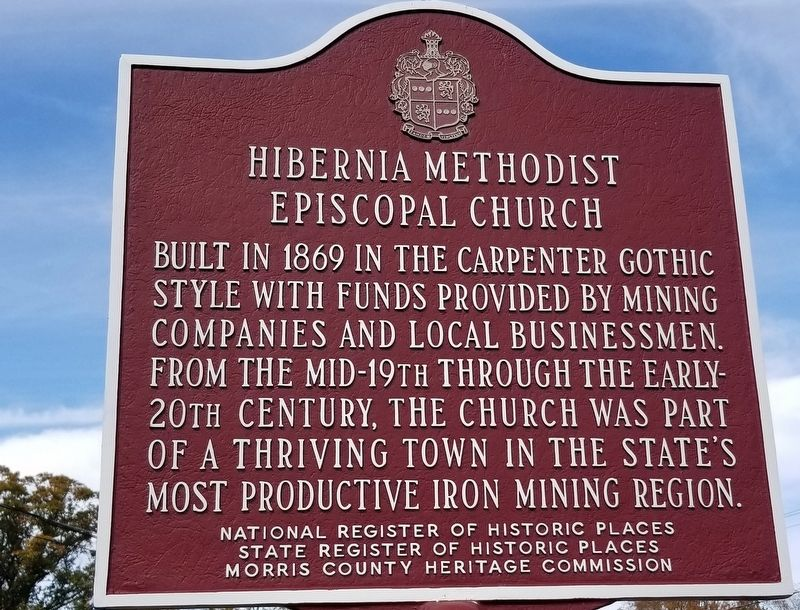 Hibernia Methodist Episcopal Church Marker image. Click for full size.