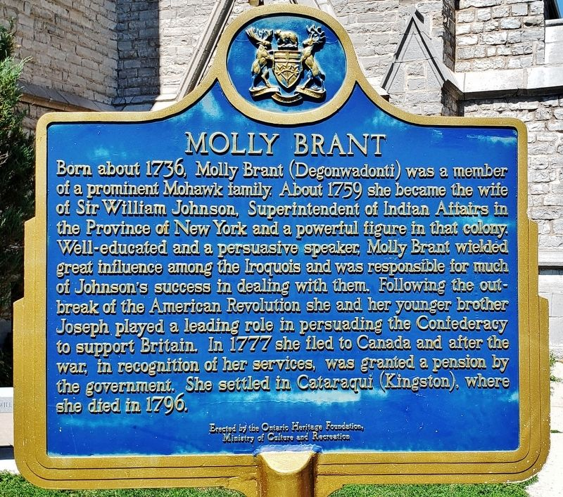 Molly Brant Marker image. Click for full size.