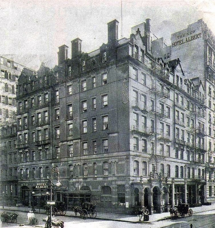 The Hotel Albert, 1901 image. Click for full size.