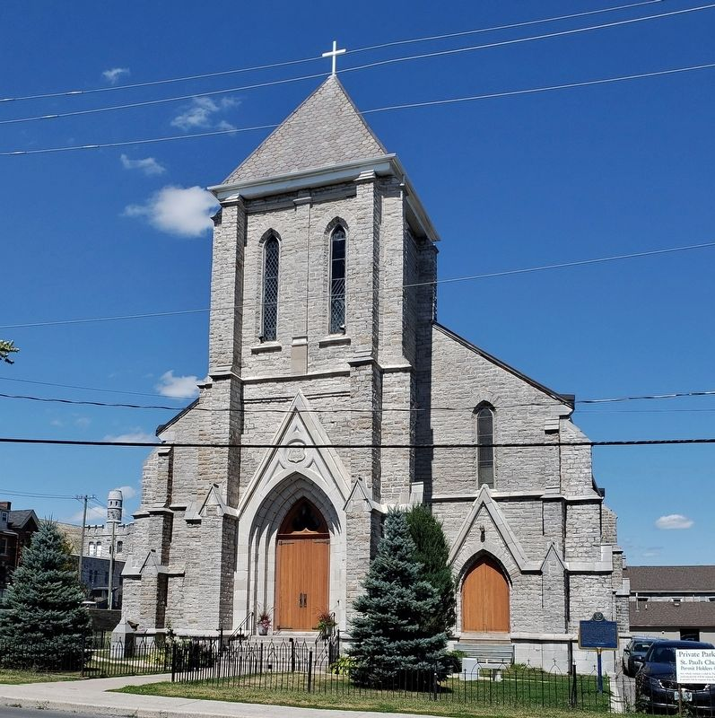 Saint Paul's Anglican Church<br>(<i>marker visible at bottom right</i>) image. Click for full size.