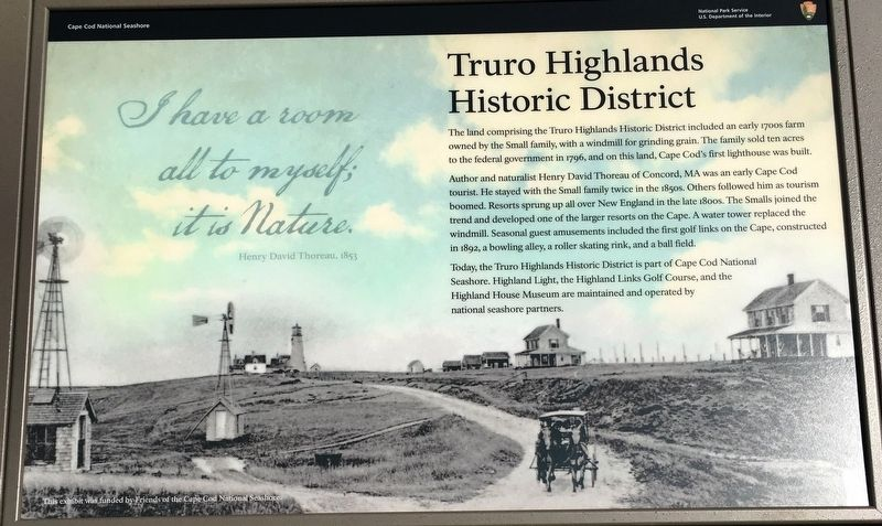 Truro Highlands Historic District Marker image. Click for full size.