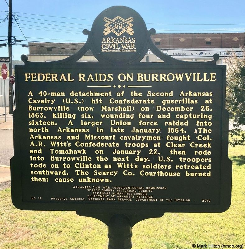 Federal Raids on Burrowville Marker image, Touch for more information