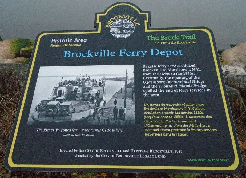 Brockville Ferry Depot Marker image. Click for full size.