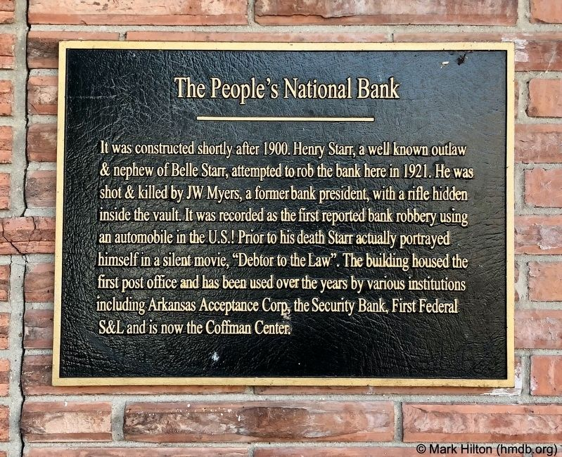 The People's National Bank Marker image. Click for full size.