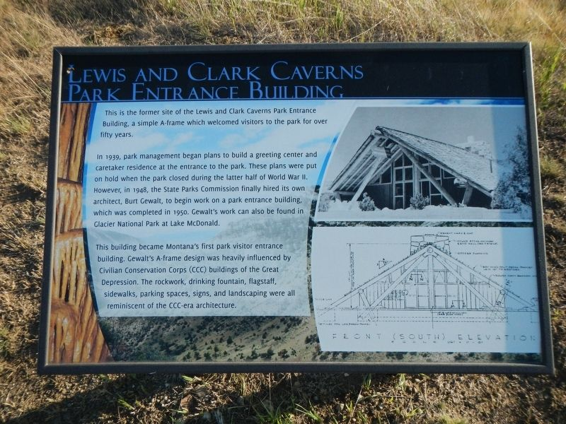 Lewis and Clark Caverns Entrance Building Marker image. Click for full size.