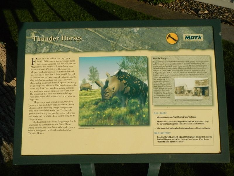 Thunder Horses Marker image. Click for full size.