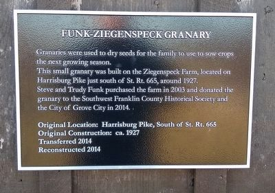 Funk-Ziegenspeck Granary Marker image. Click for full size.