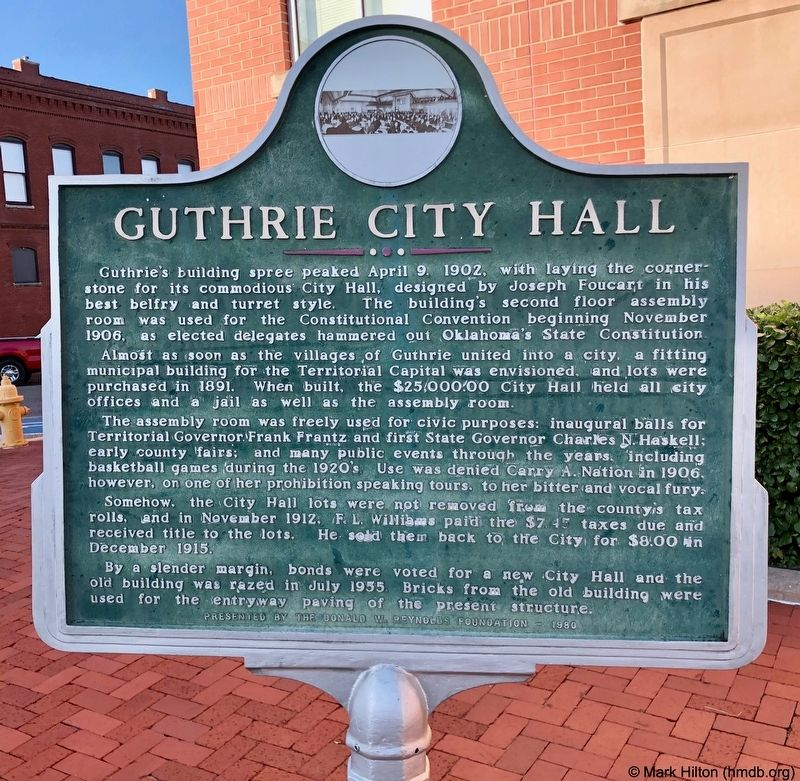 Guthrie City Hall Marker image. Click for full size.