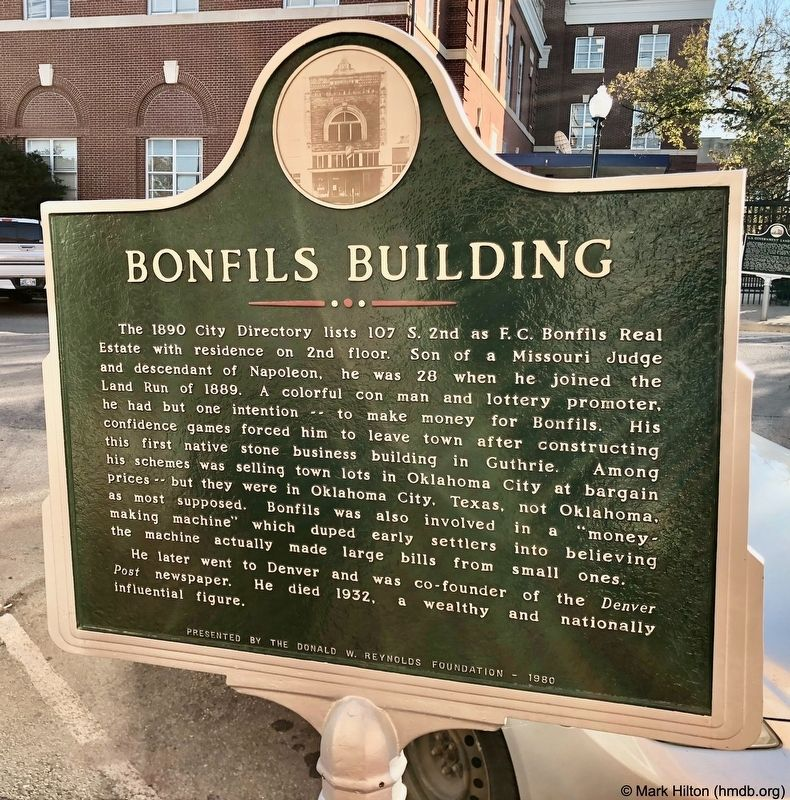 Bonfils Building Marker image. Click for full size.