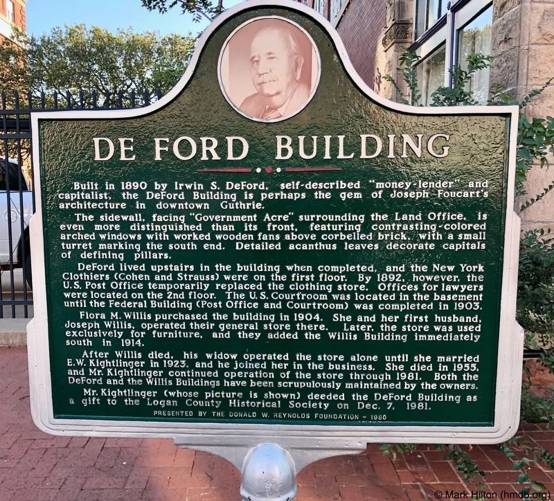 De Ford Building Marker image. Click for full size.