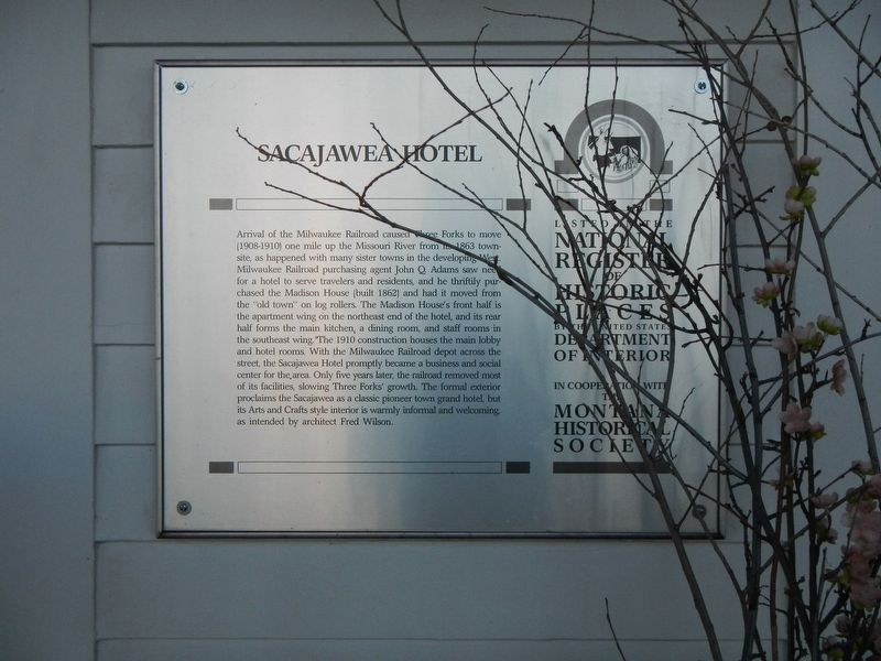Sacajawea Hotel Marker image. Click for full size.