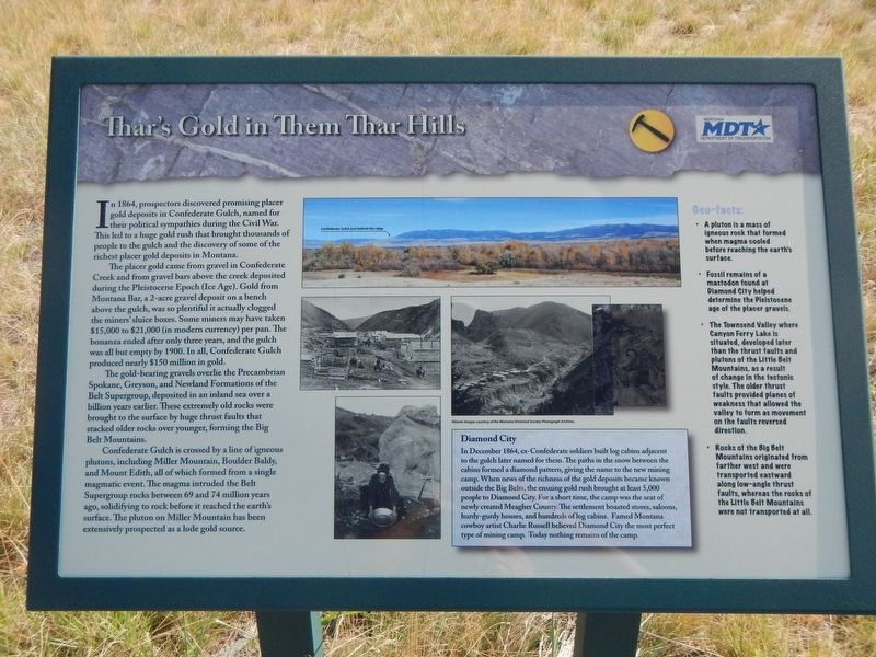 Thar's Gold in Them Thar Hills Marker image. Click for full size.