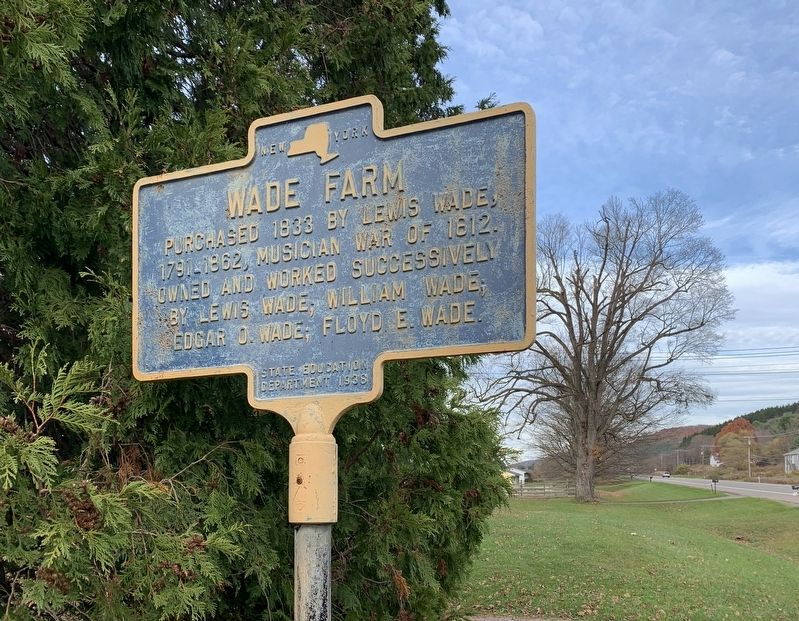 Wade Farm Marker image. Click for full size.
