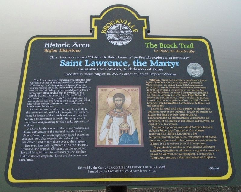 Saint Lawrence, the Martyr Marker image. Click for full size.