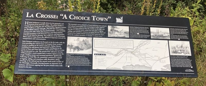 "La Crosse: ""A Choice Town"" Marker image. Click for full size."