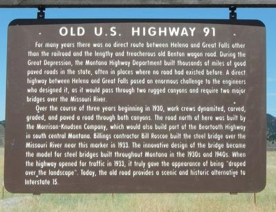 Old U.S. Highway 91 Marker image. Click for full size.