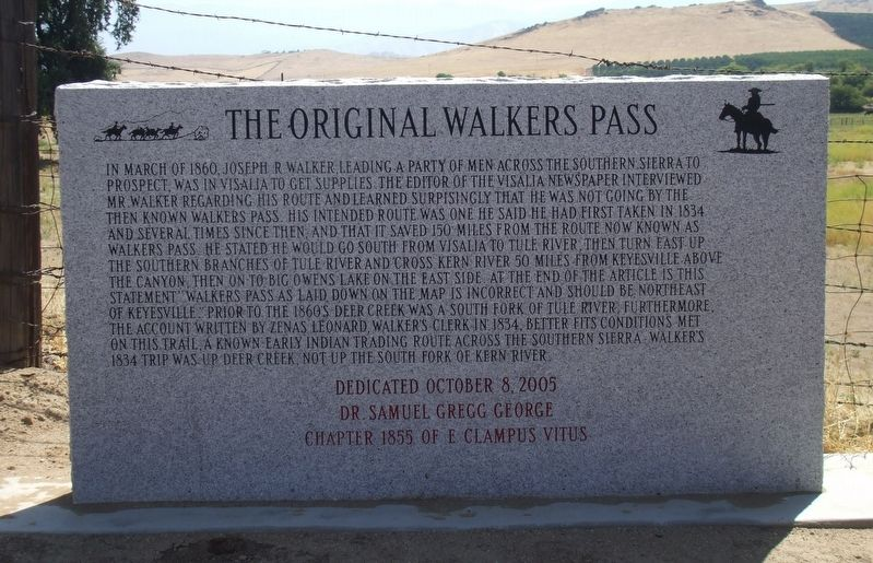 The Original Walker Pass Marker image. Click for full size.